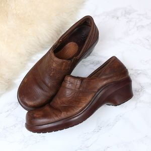 Ariat Wedge Clogs Brown Leather 8.5